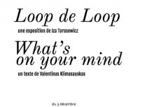 Loop de Loop Iza Tarasewicz What's on your mind? Valentinas Klimasauskas